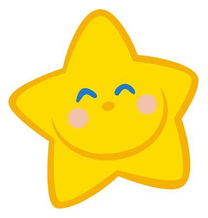 Little Star Cartoon karakter glimlachen  Stockfoto