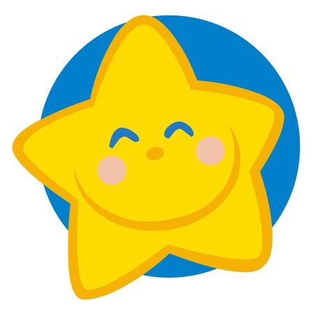 star cartoon: Smiling Star Cartoon Character