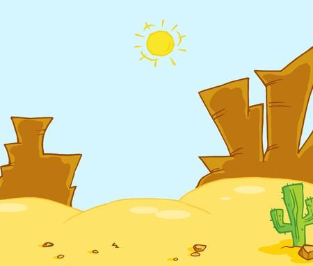 Illustrazione di paesaggio occidentale