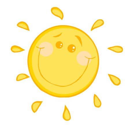 sun: Smiling Sun Cartoon Character