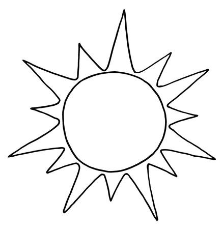 Geschetst van de zomer zon