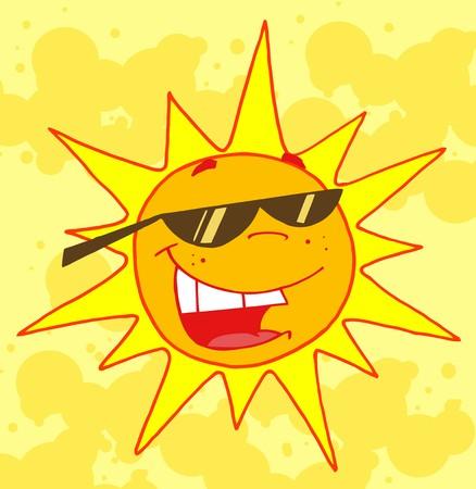 humid: Hot Sun Vector Illustrations