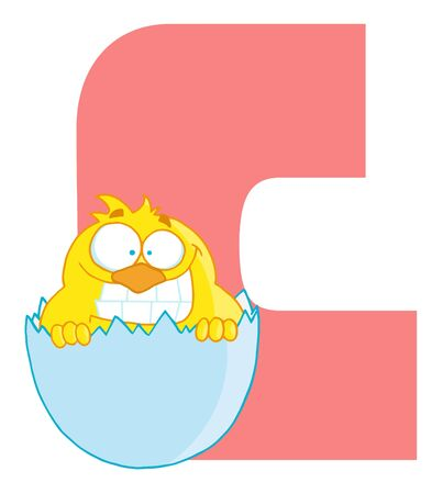 Funny Cartoons Alphabet-C Stock Vector - 7267637