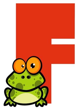 Funny Cartoons Alphabet-F  Stock Vector - 7260438