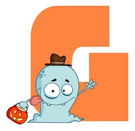 Funny Cartoons Alphabet-G Stock Vector - 7260441