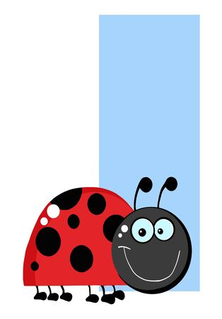 Funny Cartoons Alphabet-I  Vector