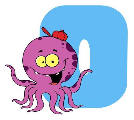 Funny Cartoons Alphabet-O
