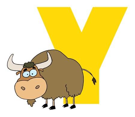 yak: Funny Cartoons Alphabet-Y