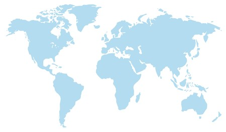 Light Blue World Atlas Map