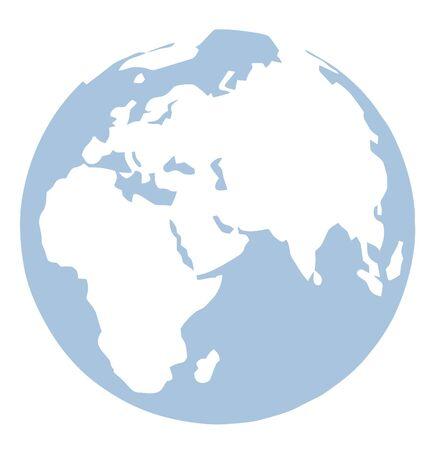 Blue And White Globe  Reklamní fotografie