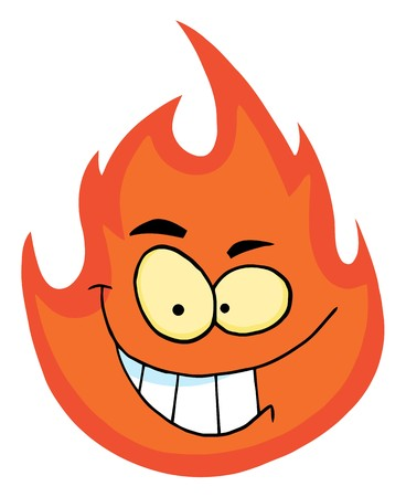 flame: Flame Cartoon Character