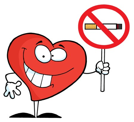 Heart Holding Up A No Smoking Sign Stock Photo - 7473921