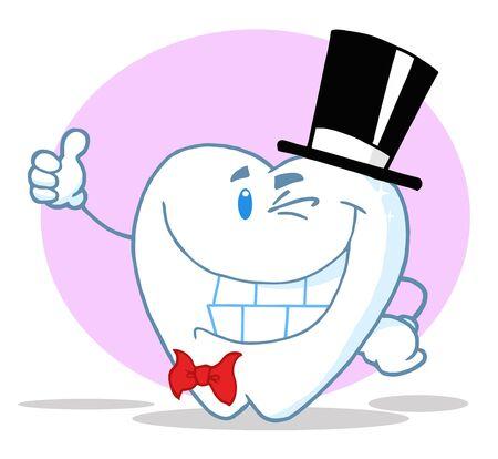 ウインク紳士歯笑顔