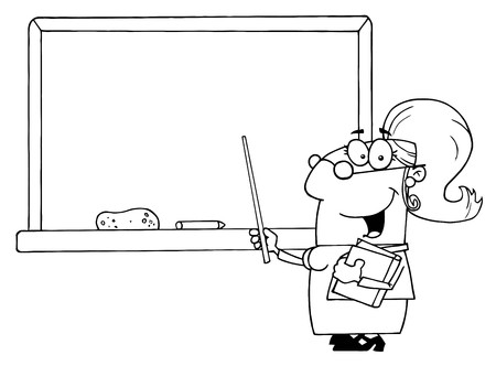 Outlined Female School Teacher Stock Photo - 7572247