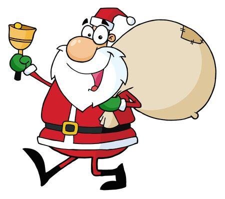 kringle: Santa Claus Waving A Bell