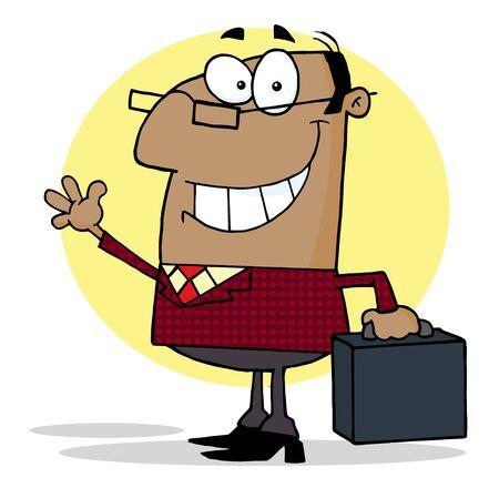 American Boss Waving A Greeting Stock Vector - 7649939