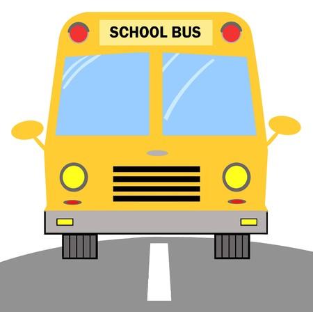 School Bus Zdjęcie Seryjne - 7649894