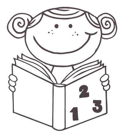 Esbozado a afroamericanos Kid Girl, un libro de lectura