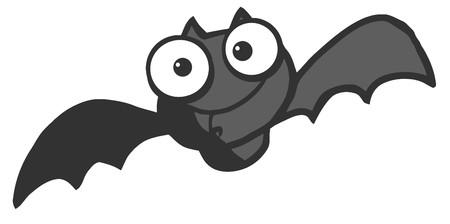 vectorrn: Flying Black Vampire Bat  Illustration