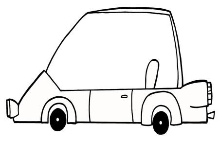 Outlined Unique Compact Car