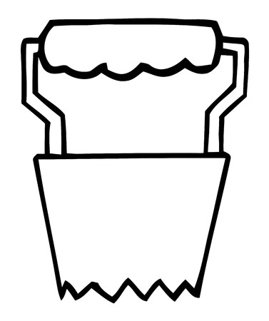 coloring sheets: Outlined Bulb Transplanter Garden Tool