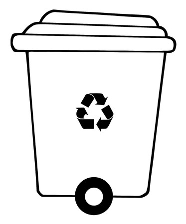 Rolling Plant Recycle Bin Vector