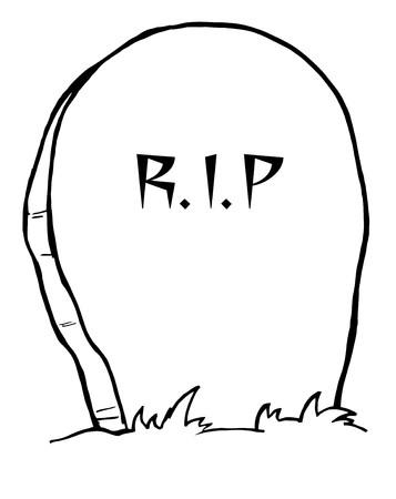 tumbas: Tombstone contorno  Vectores