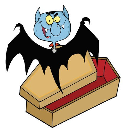 Happy Vampire Out Of The Coffin Vector