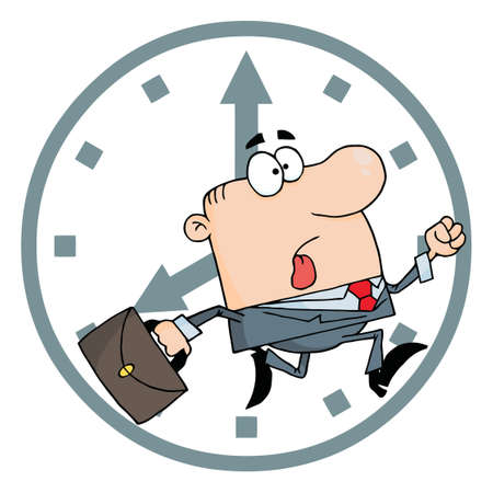 running late: Businessman Late For Work