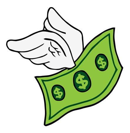 verlies: Vliegende Dollar  Stock Illustratie