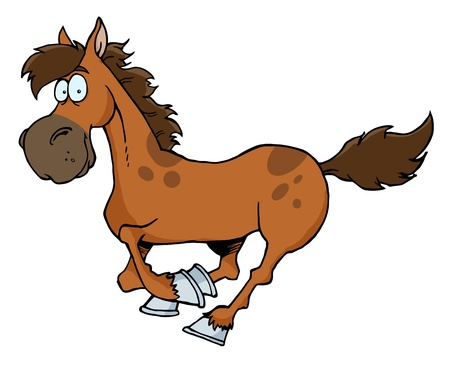 horse running: Cartoon Horse Running
