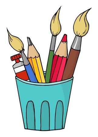 Artiste pot  Banque d'images - 8284231