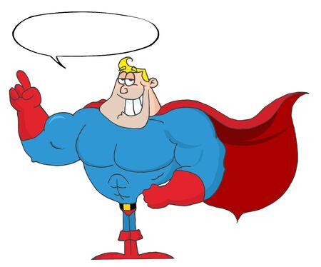Hero With Speech Bubble Stock Photo - 8284035
