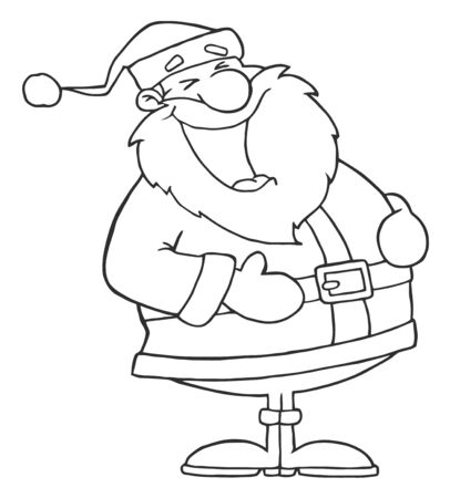 Outlined Laughs Santa  photo