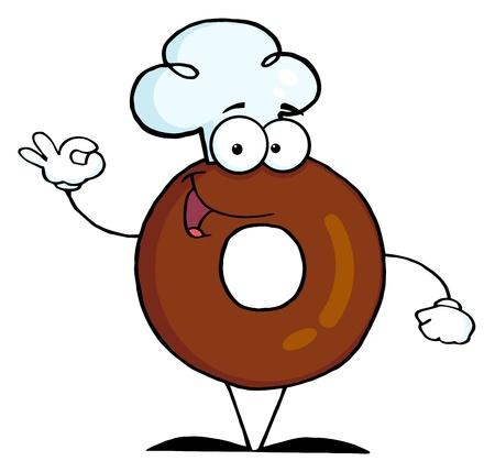 Donut Cartoon Character  photo