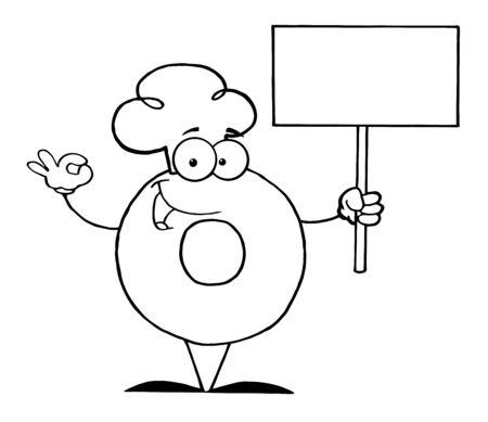 空白記号を保持してドーナツの漫画のキャラクターを概説