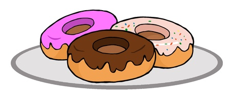 flavorful: Plate Of Donuts