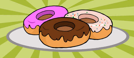 sweetened: Donuts Stock Photo