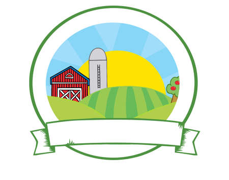 Country Farm Banner  Stock Photo