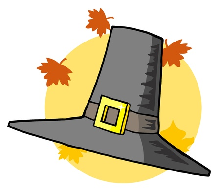 pilgrim costume: Pilgrim Hat  Stock Photo