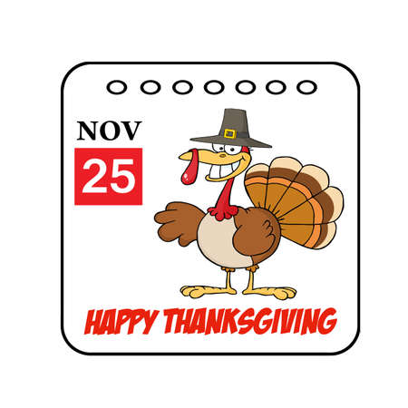 Thanksgiving Holiday Event Cartoon Calendar  Stock Photo - 8284250