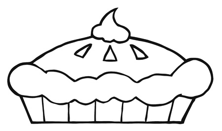 coloring sheets: Outlined Thanksgiving Pie
