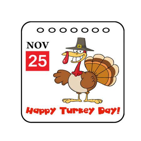 cartoon calendar: Thanksgiving Holiday Event Cartoon Calendar