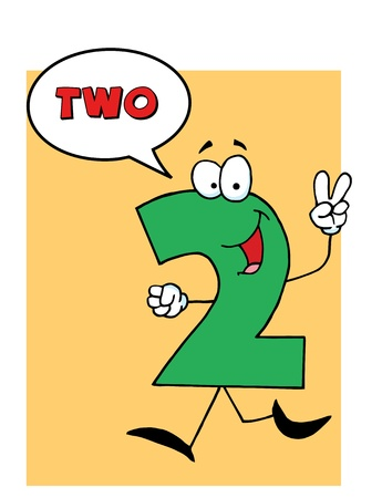 stock clipart icons: Number 2 Two Guy With Speech Bubble