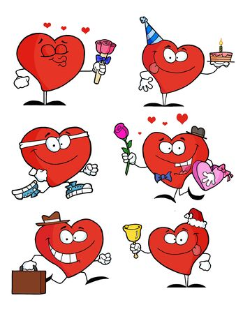 Red Heart Collection Stock Vector - 8284535