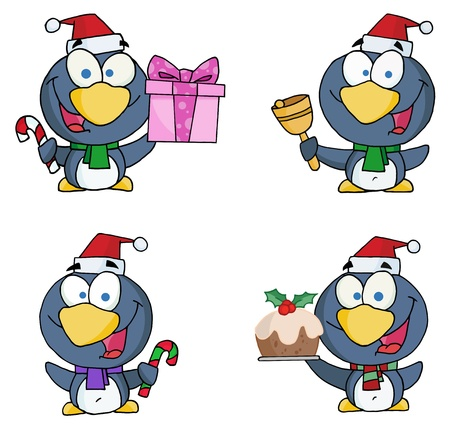 Christmas Penguin Collection  Vector