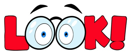 Cartoon Text Look With Glasses