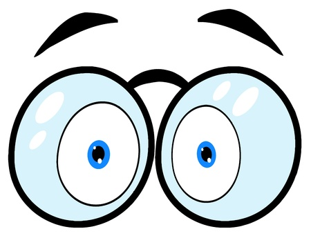 communication cartoon: Cartoon Eyes With Glasses