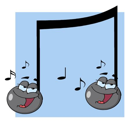 Double Musical Note Singing