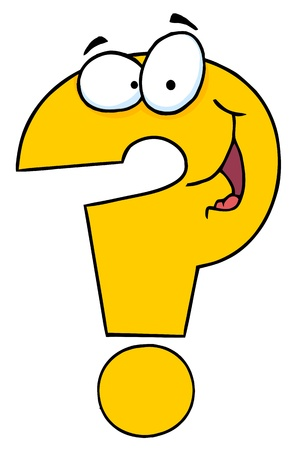 Question Mark Cartoon Character Vector